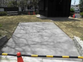 スロープ 刷毛引き 野芝 設置完了