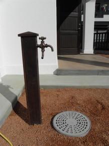 おしゃれな立水栓です。